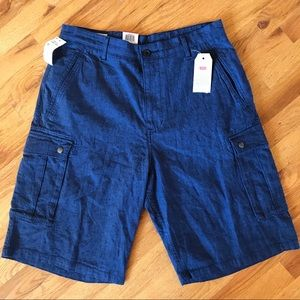NWT Levi's blue cargo shorts Men's 32
